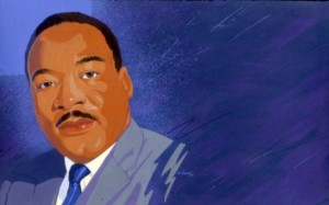 portrait of Martin Luther King, Jr. by Alvalyn Lundgren