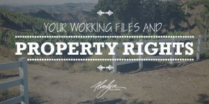 Your Working Files and Property Rights by Alvalyn Lundgren