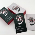 2-sided US standard business card with painted edge created for Ten75 Photography by Alvalyn Lundgren