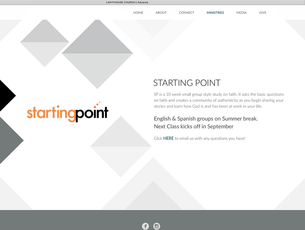 Starting Point logo designed by Alvalyn Lundgren