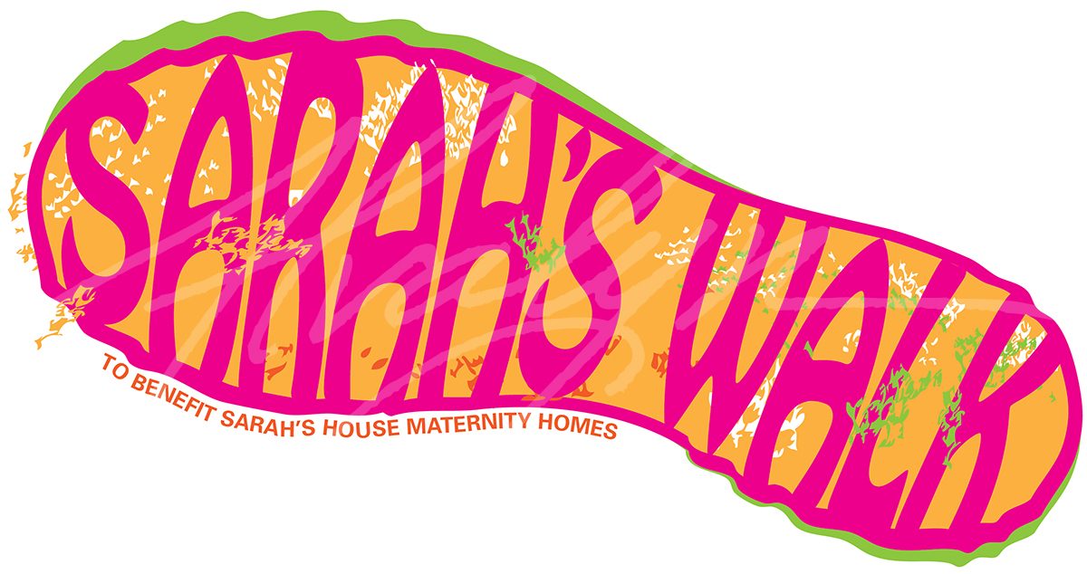 Sarah's Walk logo by Alvalyn Lundgren for Sarah's House