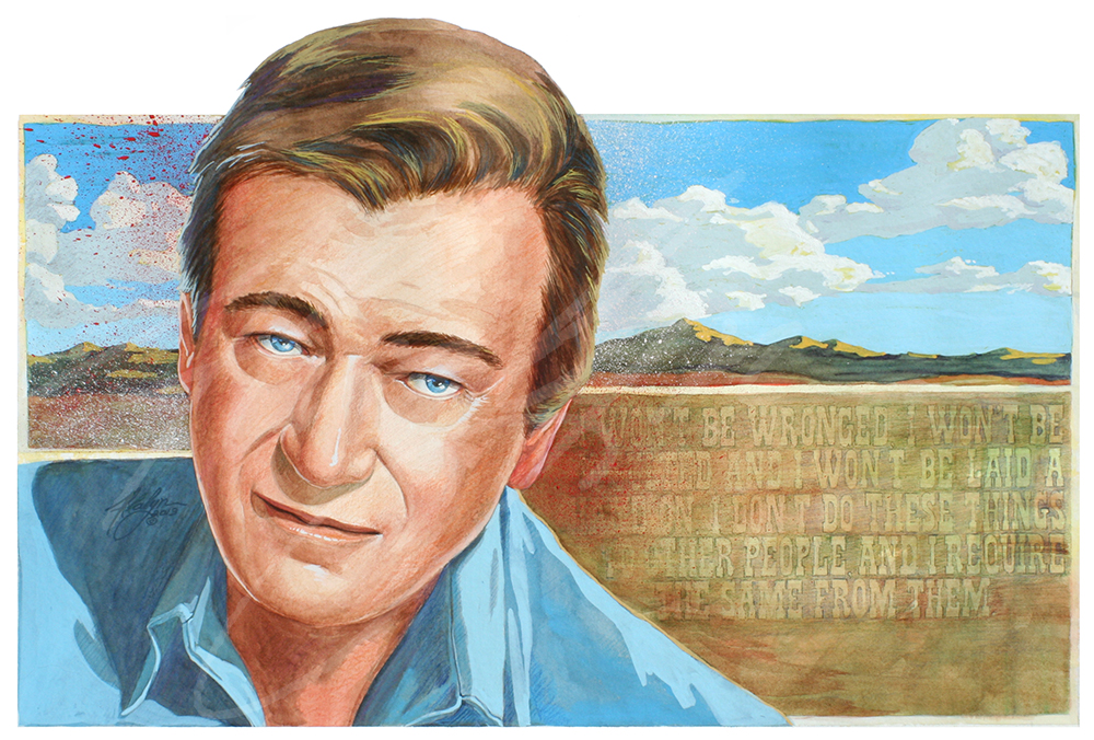 Portrait of John Wayne by Alvalyn Lundgren