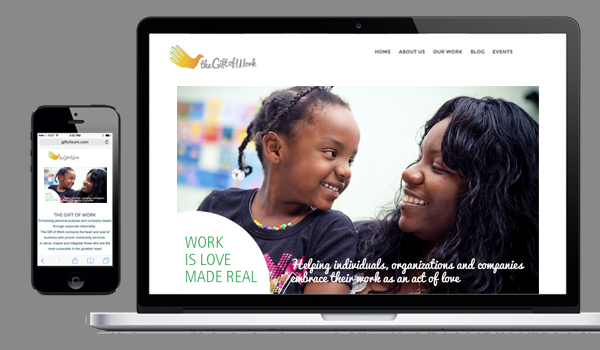 Gift of Work web site designed by Alvalyn Lundgren