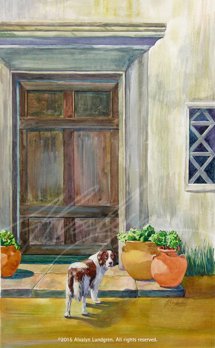 At the Door by Alvalyn Lundgren