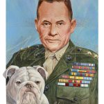 Illustrated portrait of Chesty Puller by Alvalyn Lundgren