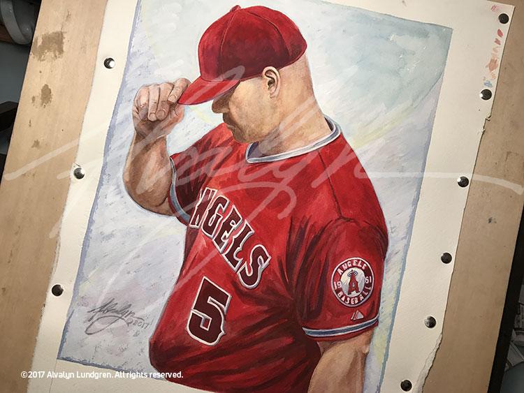 Number 5: Portrait of Albert Pujols, Angels MLB