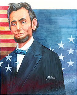 Portrait of Abraham Lincoln by Alvalyn Lundgren