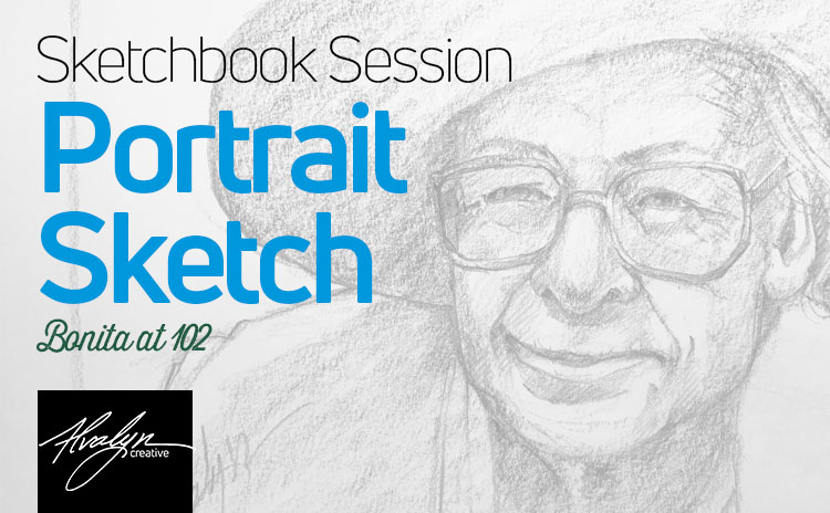 Portrait Sketch Tutorial: Bonita at 102