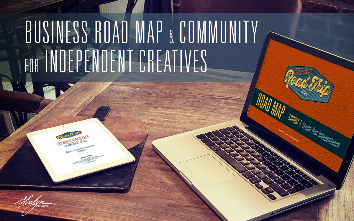 Freelance Road Trip Business Road Map for Independent Creatives by Alvalyn Lundgren