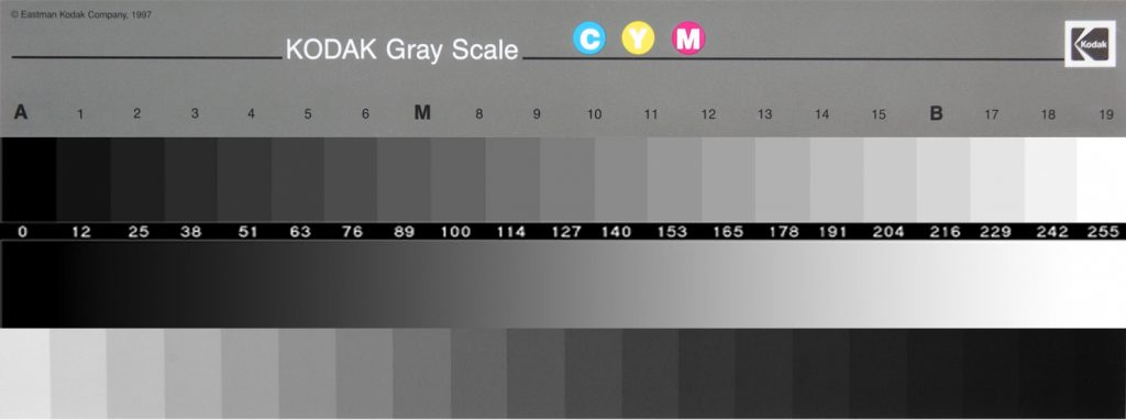 Kodak grayscale