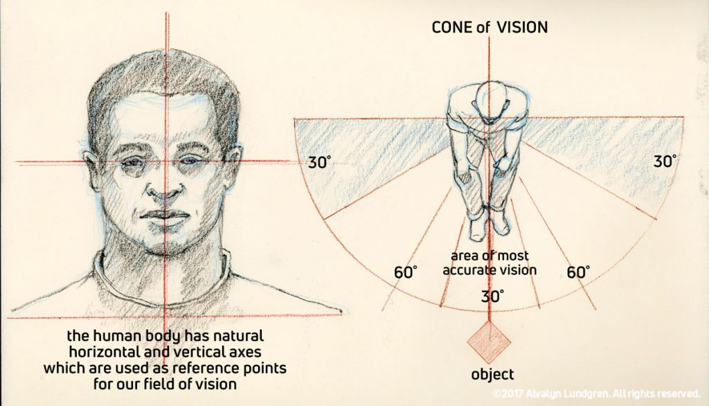 Natural axes and convo of vision diagram by Alvalyn Lundgren