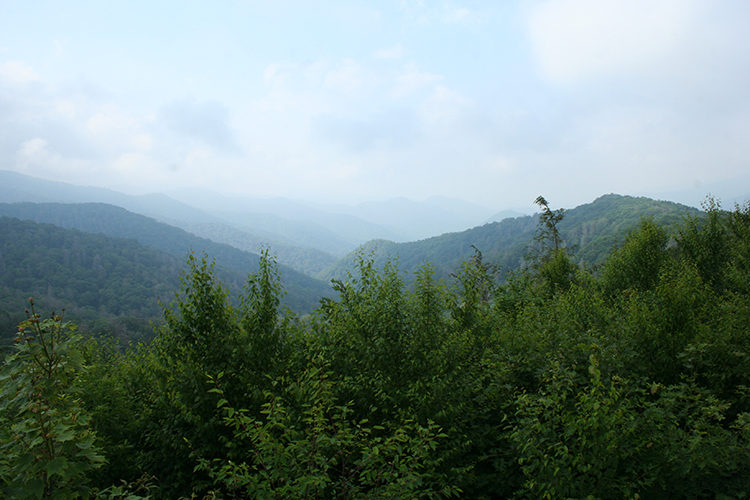 atmospheric perspective in the Great Smokey Mountains