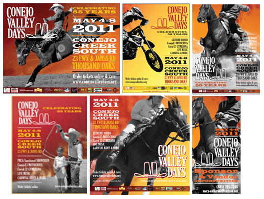 Ad campaign for Conejo Valley Days designed by Alvalyn Lundgren