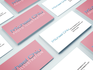Branding for Michael P Chiu photographic illustration by Alvalyn Lundgren