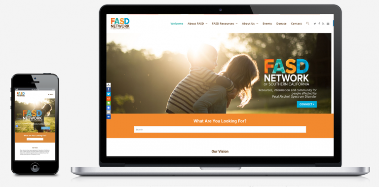FASD Network of Southern California website by Alvalyn Lundgren