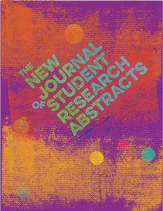 Cover of The New Journal of Student Research Abstracts designed by Alvalyn Lundgren
