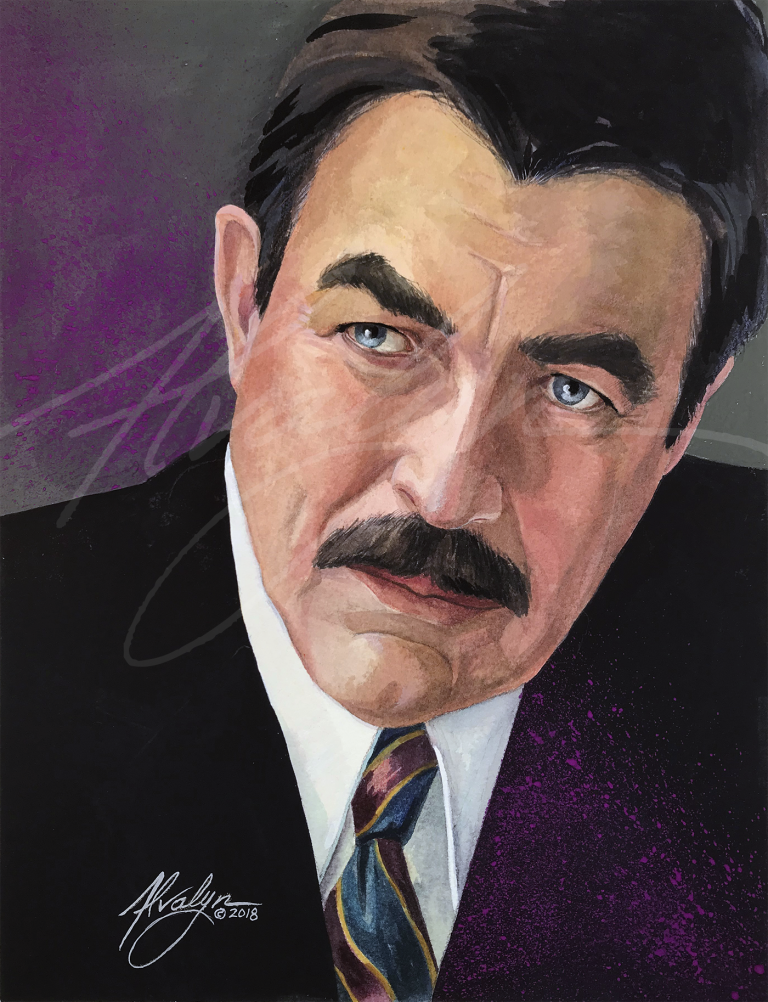 Portrait of Tom Selleck - Blue Bloods - by Alvalyn Lundgren