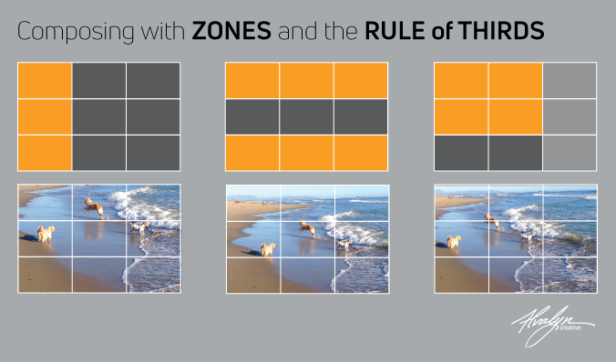 Rule of Thirds Zones infographic by Alvalyn Lundgren