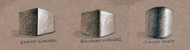 Shading Corners example sketches by Alvalyn Lundgren
