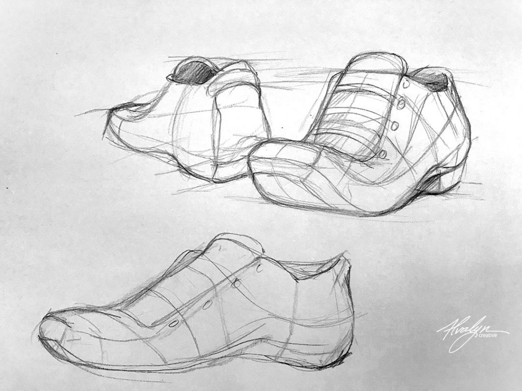 Think Form Not Edges by Alvalyn Lundgren Sketch E