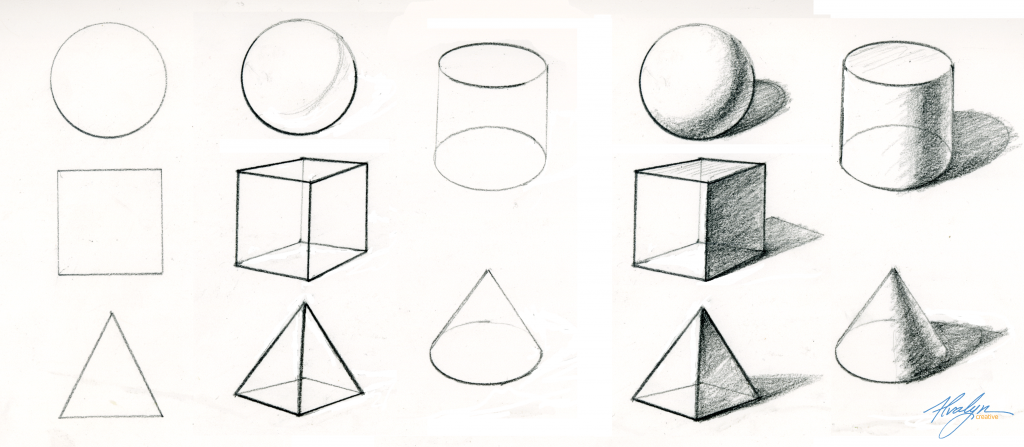 Basic Forms Illustrated by Alvalyn Lundgren