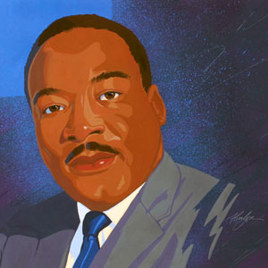 Portrait of Martin Luther King Jr by Alvalyn Lundgren
